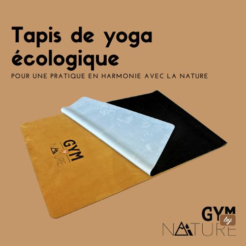 Gym by Nature - Tapis de yoga extra-fin 1mm écologique en caoutchouc naturel